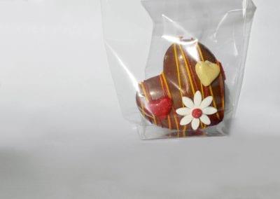 Milk heart-chocolate inside