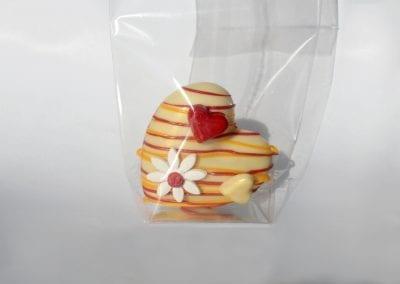 White heart-chocolate inside