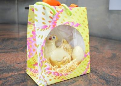 Chocolate chicken + eggs
